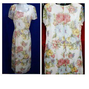 Maxi Floral Fairy Dress Ladies 10